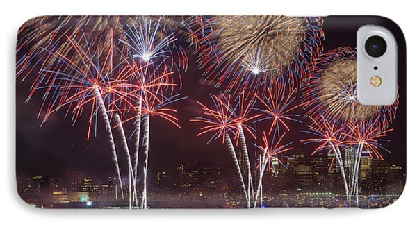 Hudson River Fireworks Viii Phone Case by Clarence Holmes