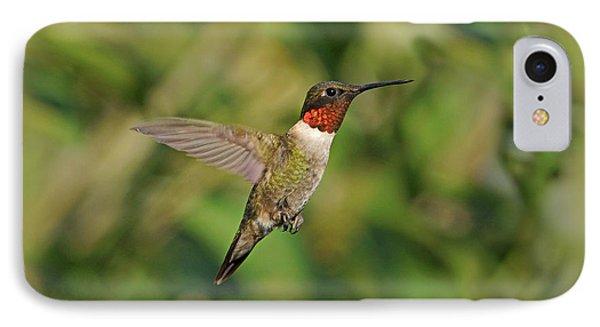Hummingbird In Flight Phone Case by Sandy Keeton