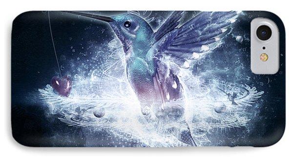 Hummingbird Print IPhone Case by Cameron Gray