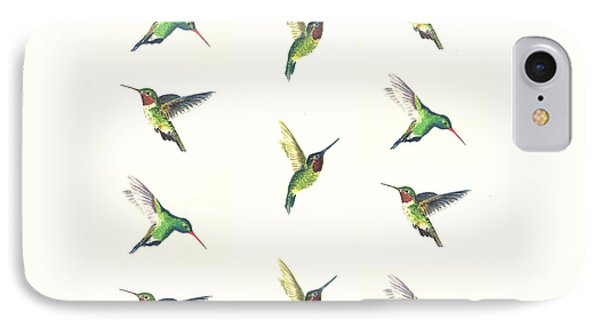 Hummingbirds Number 2 IPhone Case by Michael Vigliotti