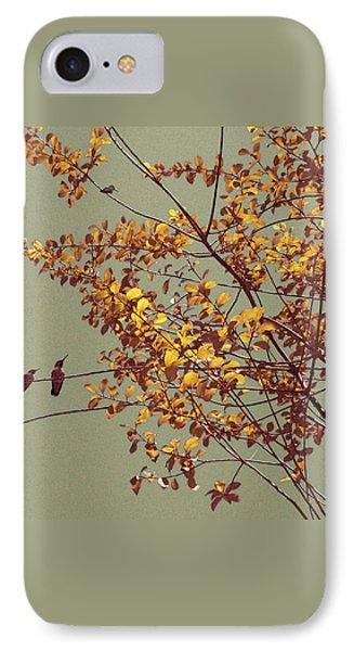 Hummingbirds On Yellow Tree Phone Case by Ben and Raisa Gertsberg