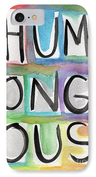 Humongous Word Painting IPhone Case by Linda Woods