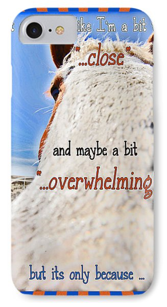 Humorous Funny Greeting Card IPhone Case by Amanda Smith
