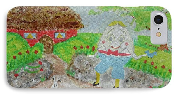 Humpty's House Phone Case by Diane Pape