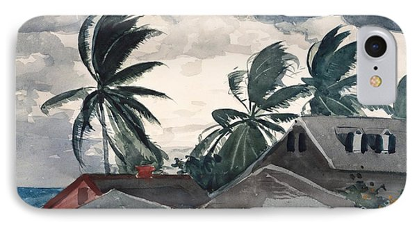 Hurricane Bahamas IPhone Case by Winslow Homer