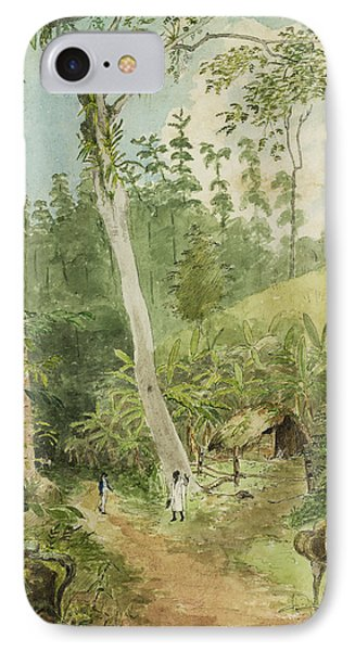 Hut In The Jungle Circa 1816 Phone Case by Aged Pixel