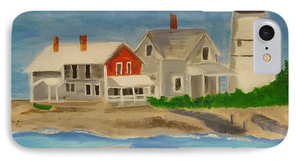 Hyannis Lighthouse Phone Case by Sally Jones