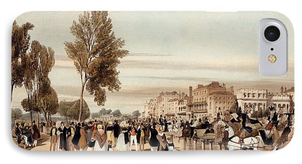 Hyde Park, Towards The Grosvenor Gate IPhone 7 Case by Thomas Shotter Boys