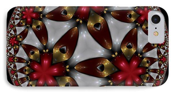 Hyper Jewel I - Hyperbolic Disk IPhone Case by Manny Lorenzo