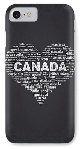 I Love Canada IPhone Case by Aged Pixel