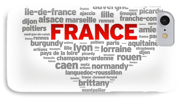 I Love France IPhone Case by Aged Pixel