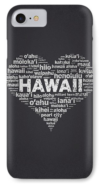 I Love Hawaii IPhone Case by Aged Pixel