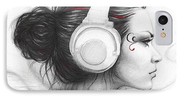 I Love Music IPhone Case by Olga Shvartsur