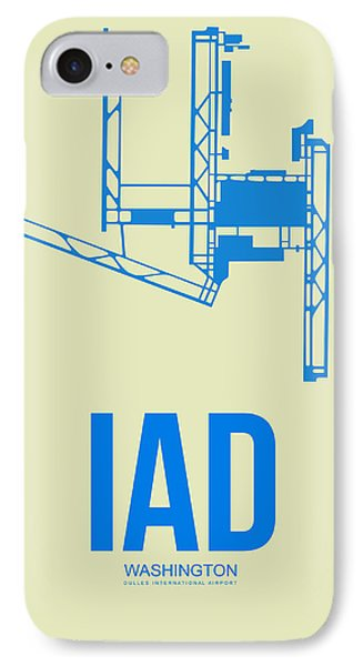 Iad Washington Airport Poster 1 IPhone Case by Naxart Studio