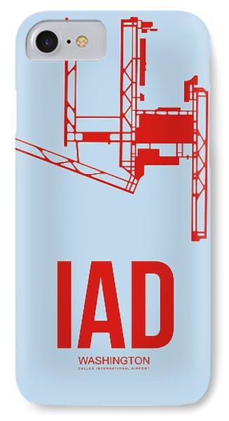 Iad Washington Airport Poster 2 IPhone Case by Naxart Studio