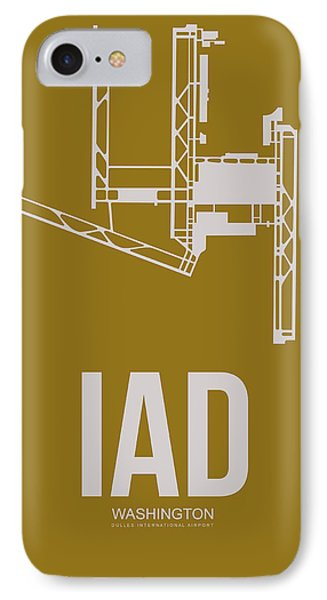 Iad Washington Airport Poster 3 IPhone Case by Naxart Studio