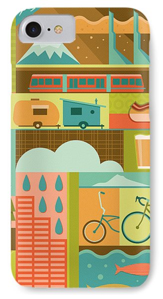 Iconic Portland IPhone 7 Case by Mitch Frey