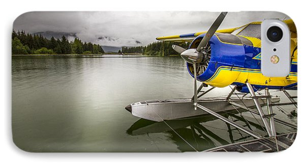Idle Float Plane At Juneau Airport IPhone 7 Case by Darcy Michaelchuk