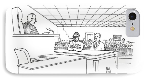 In A Courtroom IPhone Case by Paul Noth