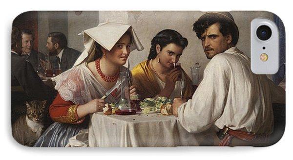 In A Roman Osteria IPhone Case by Carl Bloch
