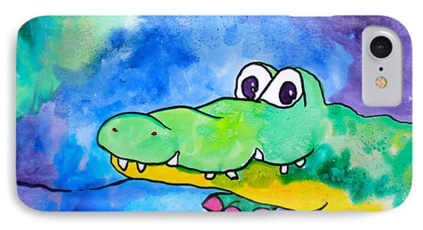 In Awhile Crocodile IPhone Case by Debi Starr