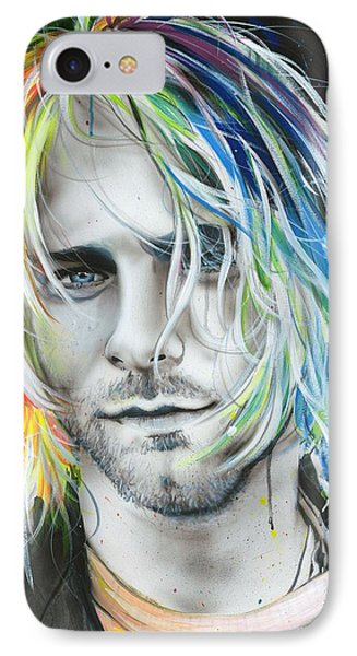 Kurt Cobain - ' In Debt For My Thirst ' IPhone Case by Christian Chapman Art