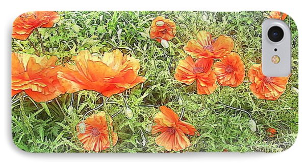 In Flanders Fields The Poppies Grow Phone Case by PainterArtist FIN