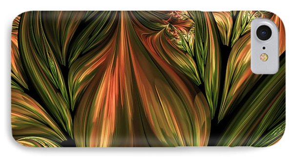 In The Midst Of Nature Abstract IPhone Case by Georgiana Romanovna
