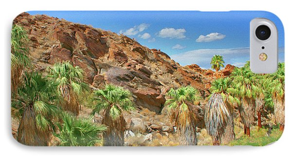 Indian Canyons View In Palm Springs Phone Case by Ben and Raisa Gertsberg