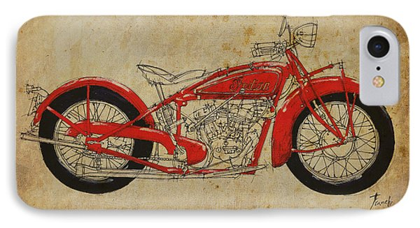 Indian Scout 1928 Phone Case by Pablo Franchi