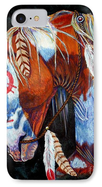 Indian War Pony IPhone Case by Amanda Hukill
