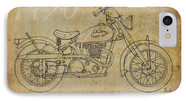 Indian Warrior Tt 1950 Phone Case by Pablo Franchi