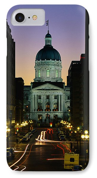 Indiana State Capitol Building IPhone Case by Panoramic Images