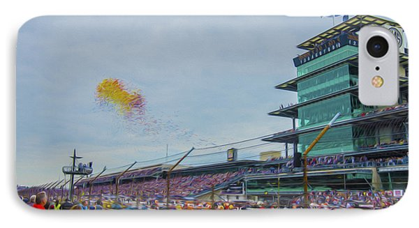 Indianapolis 500 May 2013 Balloons Race Start IPhone Case by David Haskett