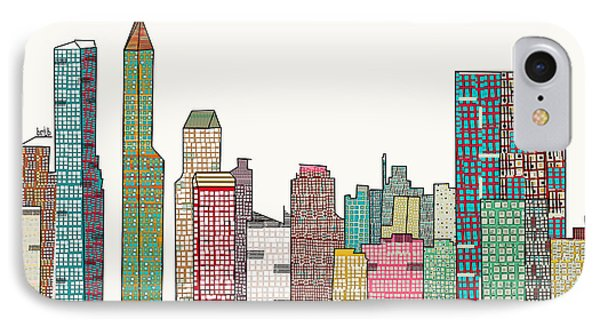 Indianapolis Skyline IPhone Case by Bri B
