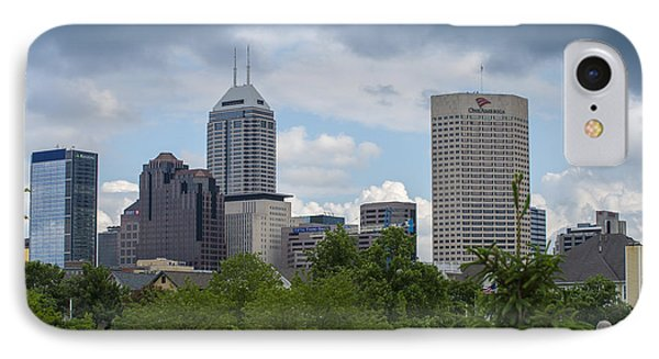 Indianapolis Skyline Storm 3 IPhone Case by David Haskett