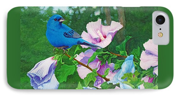 Indigo Bunting  IPhone Case by Ken Everett