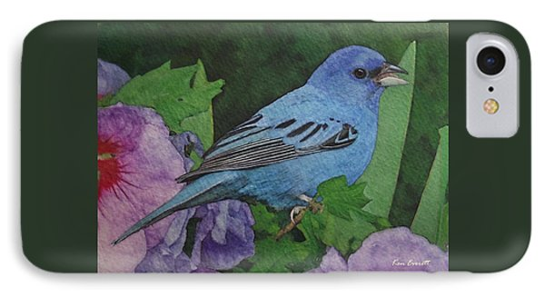 Indigo Bunting No 2 IPhone Case by Ken Everett