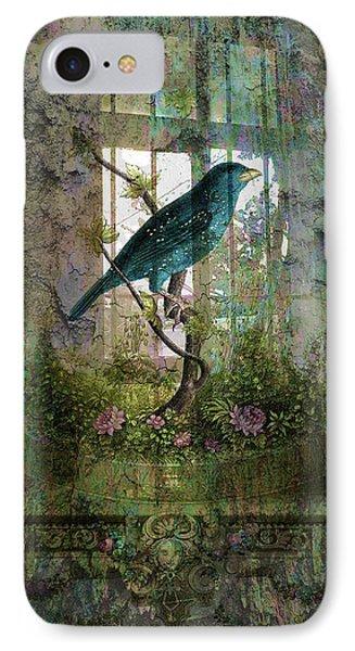 Indoor Garden With Bird Phone Case by Sarah Vernon