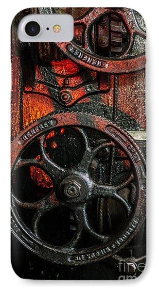 Industrial Wheels IPhone Case by Carlos Caetano