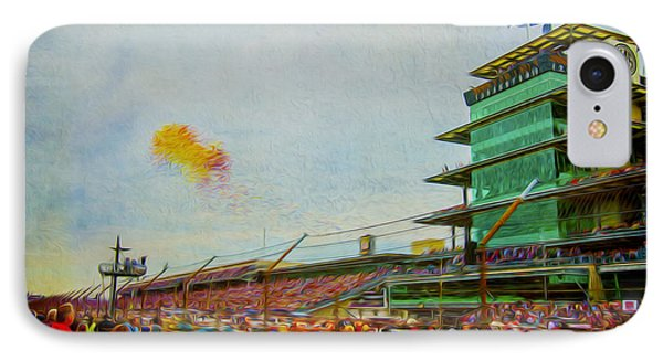 Indy 500 May 2013 Race Day Start Balloons IPhone Case by David Haskett