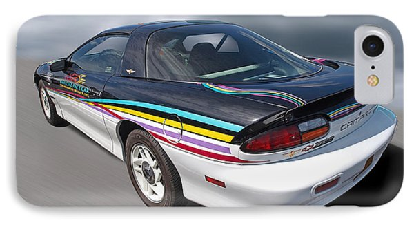 Indy 500 Pace Car 1993 - Camaro Z28 IPhone Case by Gill Billington