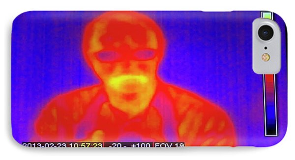 Infrared Man IPhone Case by Mark Williamson