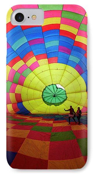 Inside A Hot Air Balloon, Balloons IPhone Case by David Wall