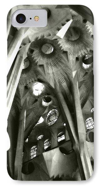 inside La Sagrada Familia IPhone Case by Kristi Henigar