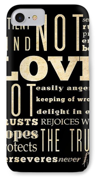 Inspirational Art - Love Never . IPhone Case by Joy House Studio
