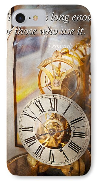Inspirational - Time - A Look Back In Time - Da Vinci Phone Case by Mike Savad