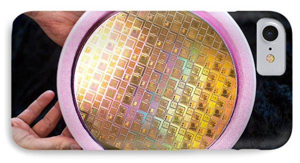IPhone Case featuring the photograph Integrated Circuits On Silicon Wafer by Science Source