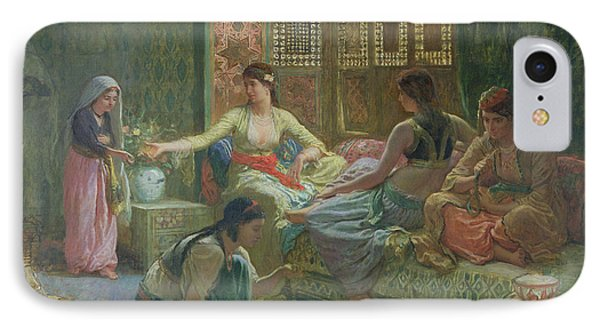 Interior Of A Harem IPhone Case by Leon-Auguste-Adolphe Belly