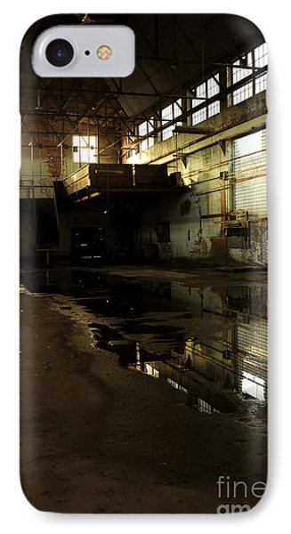 Interior Of An Abandoned Factory IPhone Case by HD Connelly